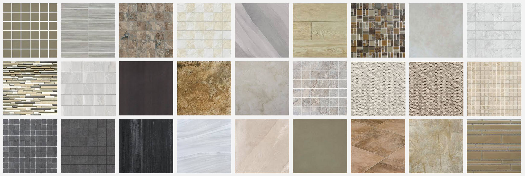 Tile floor samples